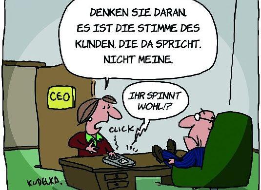voice of customer cartoon
