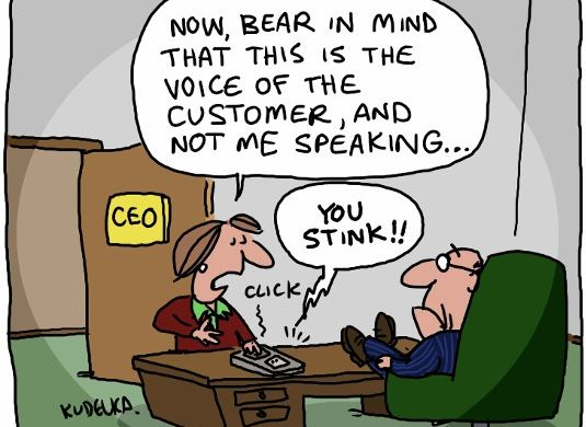 voice of customer cartoon